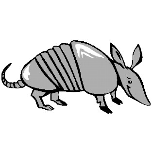 Clip Art Armadillo Clipart cowboy clip art country and western graphics armadillo 16kb